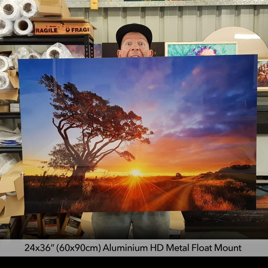 float mount metal prints colourful