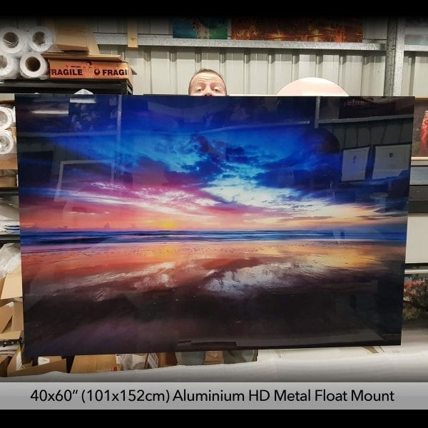 float mounted metal prints